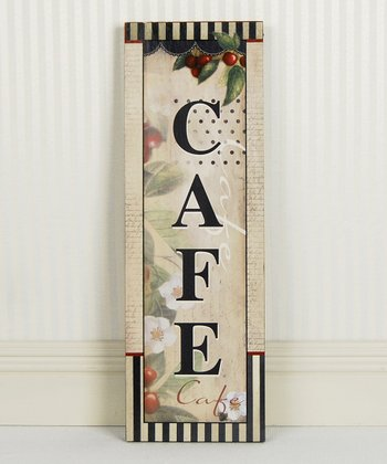 'Cafe' Vertical Wall Sign