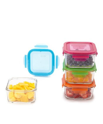 Garden 16-Oz. Four-Piece Lunch Cube Set