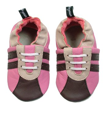 Chocolate & Fuchsia Sneaker Booties