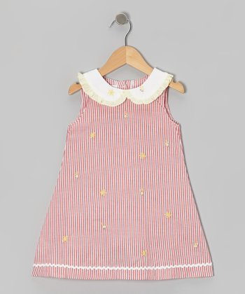 Red Stripe Bumble Bee Dress - Toddler & Girls