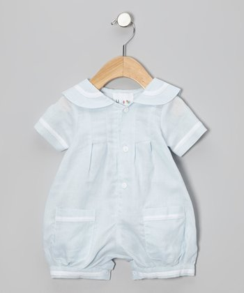 Blue & White Romper - Infant