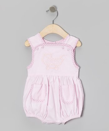 Pink Gingham 'Baby' Stroller Bodysuit - Infant