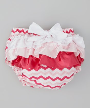 Hot Pink & Pink Zigzag Ruffle Diaper Cover - Infant & Toddler