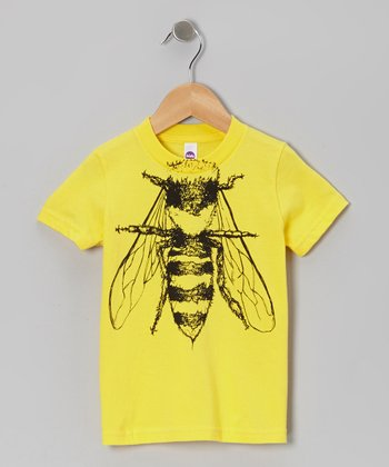 Yellow Bee Body Tee - Toddler & Kids