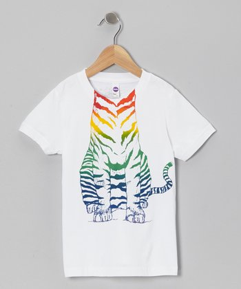 Rainbow Tiger Body Tee - Toddler & Kids