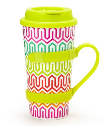Lime Removable Handle 16-Oz. Travel Tumbler