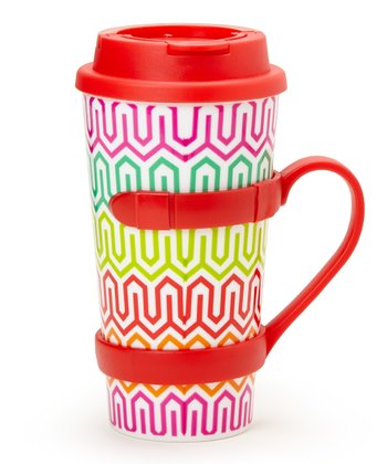 Red Removable Handle 16-Oz. Travel Tumbler