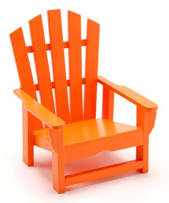 Orange Adirondack Wine Holder