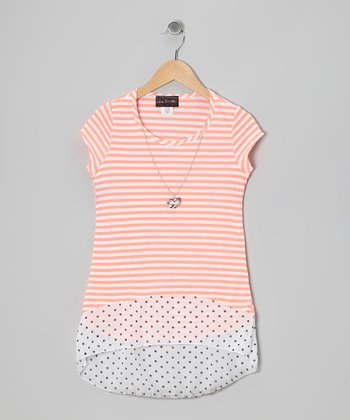 Orange Stripe Top
