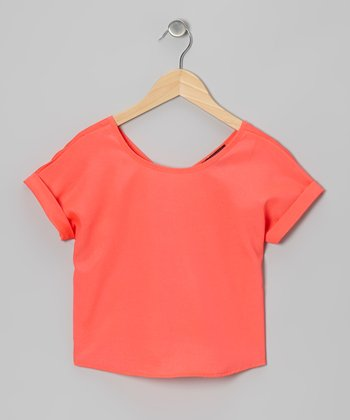 Orange Chiffon Tee