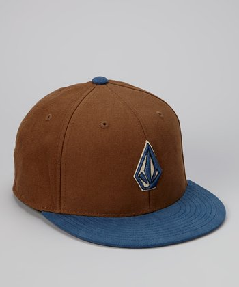 Brown & Blue Stone Cap