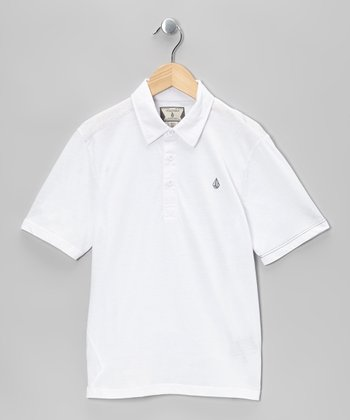 White Banger Polo - Boys