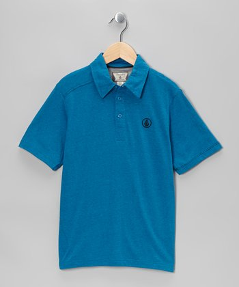 Atlantic Blue Smasher Polo - Boys