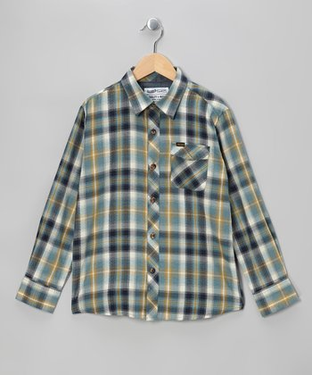 Vintage Blue Cruz Button-Up - Boys