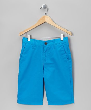 Atlantic Blue Modern Chino Shorts - Boys