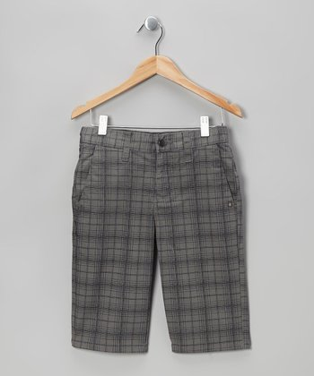 Pewter Vmonty Plaid Shorts - Boys