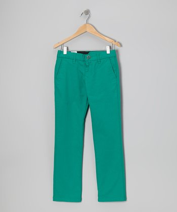 Scrubs Green Chino Pants - Boys