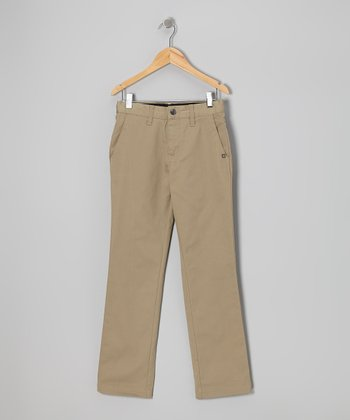 Khaki Vmonty Pants - Boys