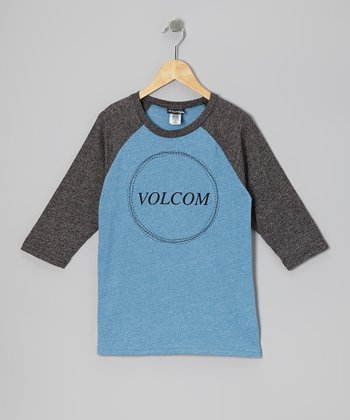 Free Blue Heather Cleaner Raglan Tee - Boys