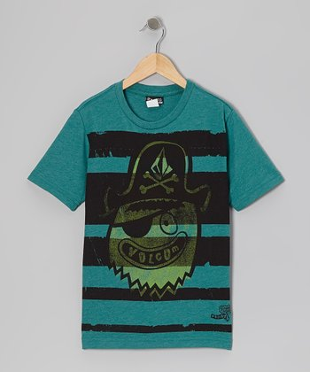 Blue Green Brobee Tee - Boys