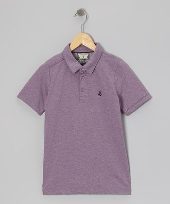 Blurred Violet Polo - Boys