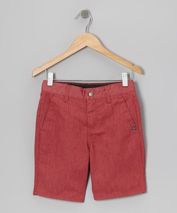 Red Vmonty Shorts - Toddler & Boys