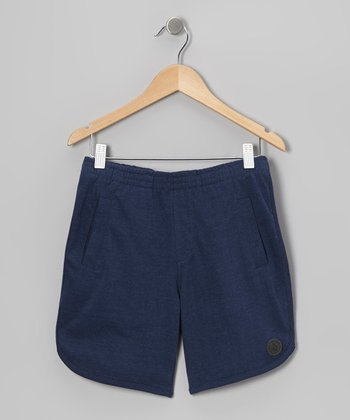 Dark Navy Brambly Shorts - Toddler & Boys