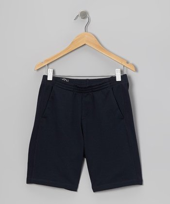 Navy Mesh Shorts - Toddler & Boys