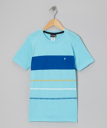 Turquoise & Cobalt Color Block Tee - Toddler & Boys