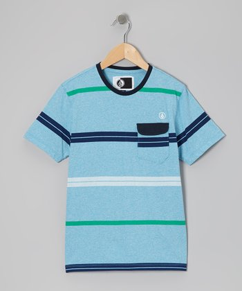 Arctic Blue Avenida Marled Tee - Toddler & Boys