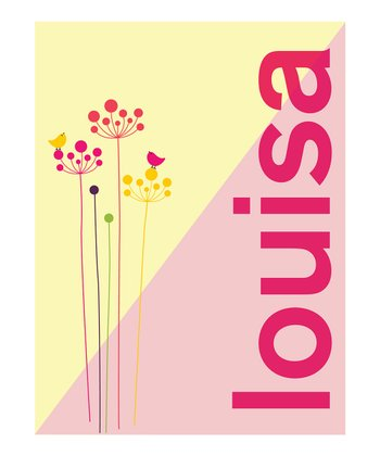 Yellow & Pink Personalized Print