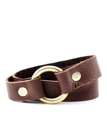 Brown & Gold Loop-D-Lou Bracelet