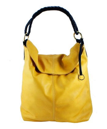 Sun & Black Leather Tote