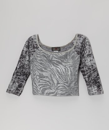 Heather Silver Wild Top