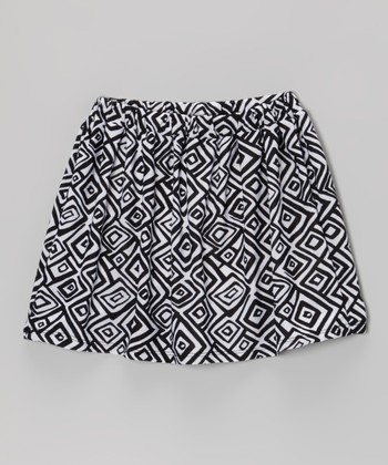 Black & White Spiral Square Skirt