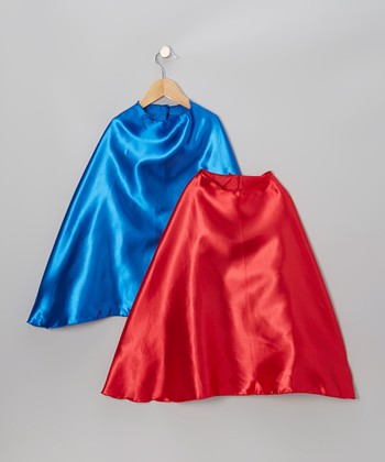 Blue & Red Classic Cape Set