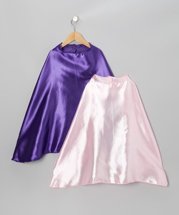 Purple & Light Pink Classic Cape Set
