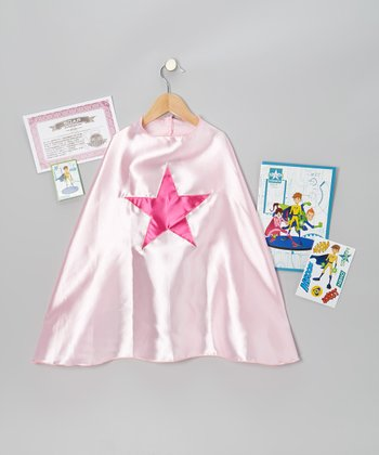 Light Pink & Fuchsia Star Cape Set