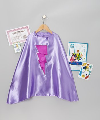 Light Purple & Orchid Lightning Bolt Cape Set