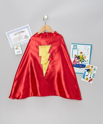 Red & Yellow Lightning Bolt Cape Set