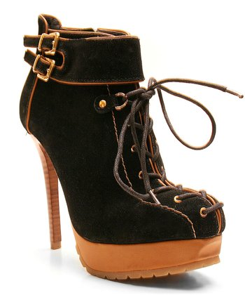 Black Rocker Bootie