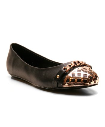 Black Too Cagey Ballet Flat