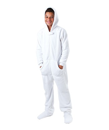 White In the Clouds Hooded Footie - Kids