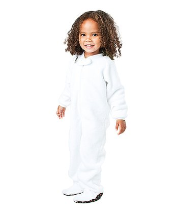 White In the Clouds Chenille Footie - Toddler