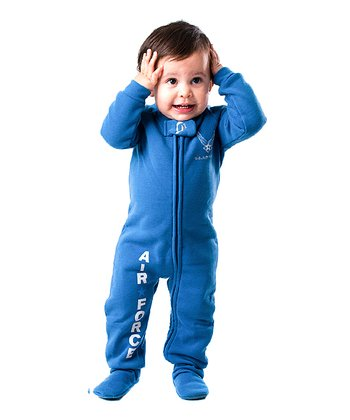 Blue 'U.S. Air Force' Footie - Infant