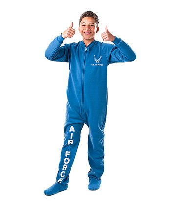 Blue 'U.S. Air Force' Footie - Kids