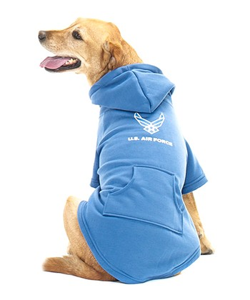 Blue 'U.S. Air Force' Pet Hoodie