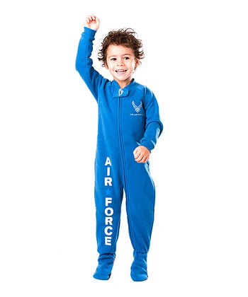 Blue 'U.S. Air Force' Footie - Toddler