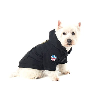 Black 'Fire Dept' Pet Hoodie
