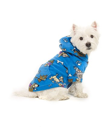 Blue Doggie Dream Pet Hoodie
